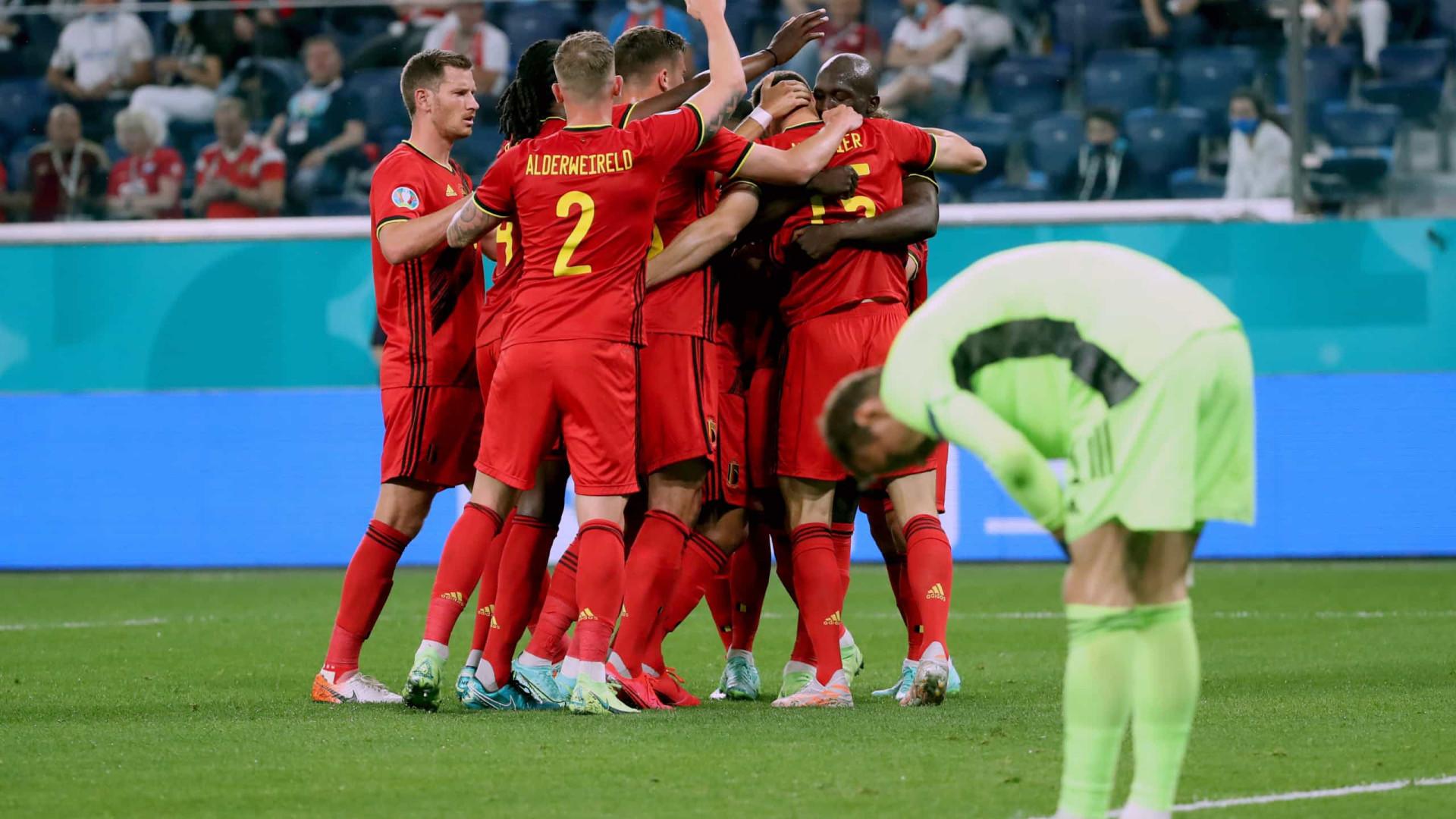 Bélgica entra a todo o vapor no Euro'2020 e derrota a Rússia