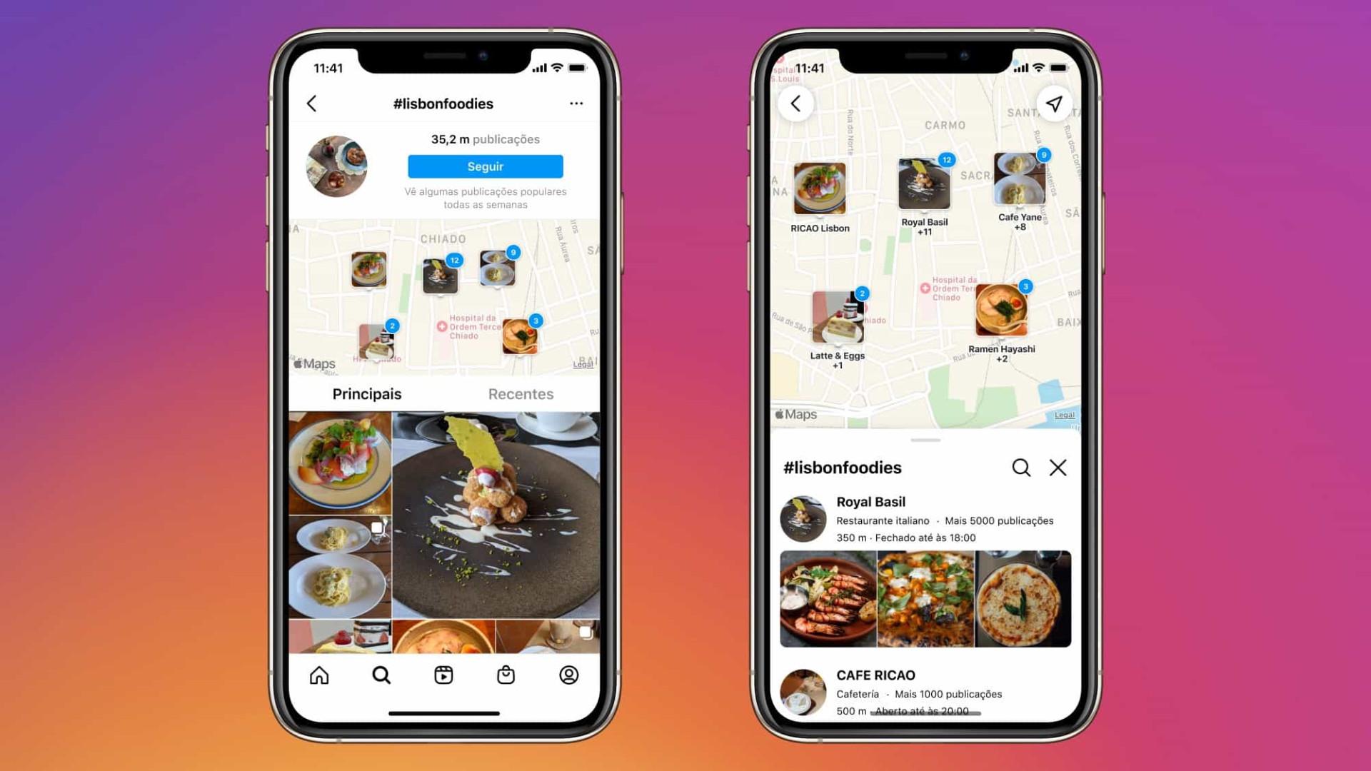 Instagram lança 'Pesquisa no Mapa' em Portugal