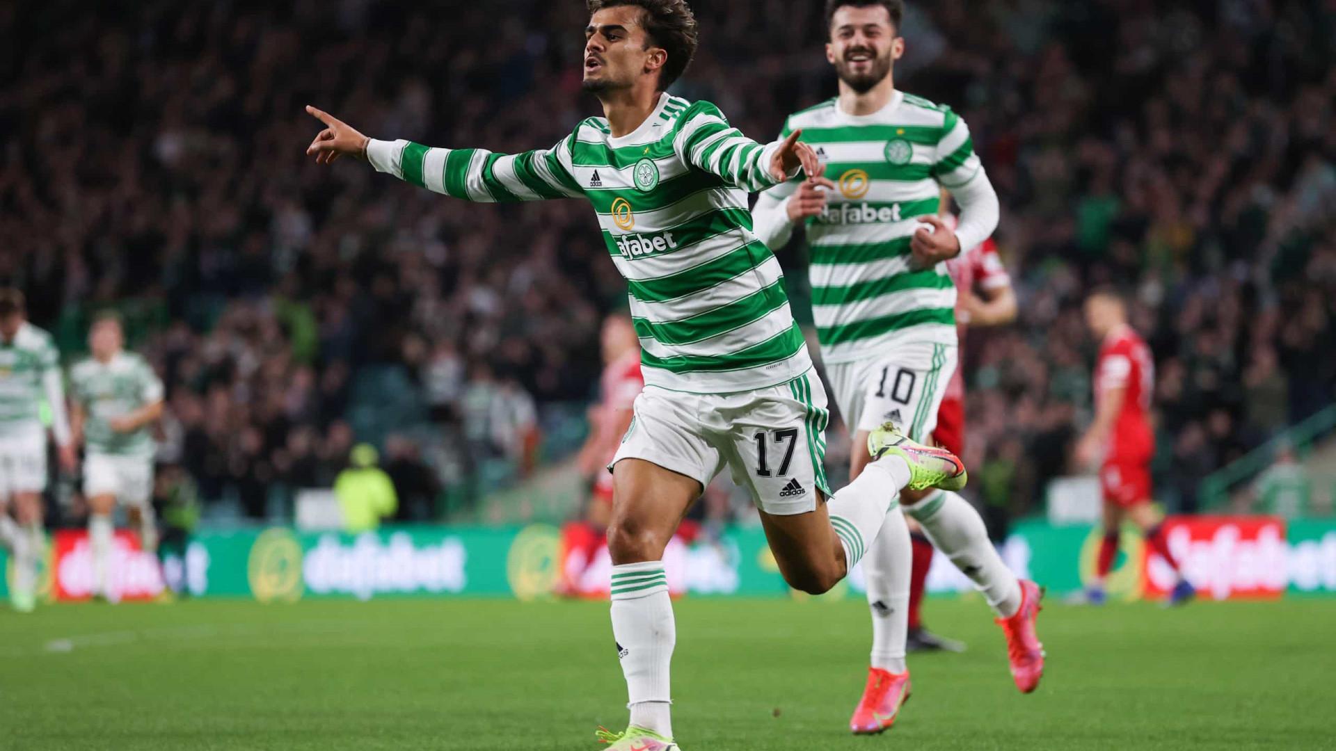 Jota estreia-se a marcar pelo Celtic na Taça da Liga escocesa