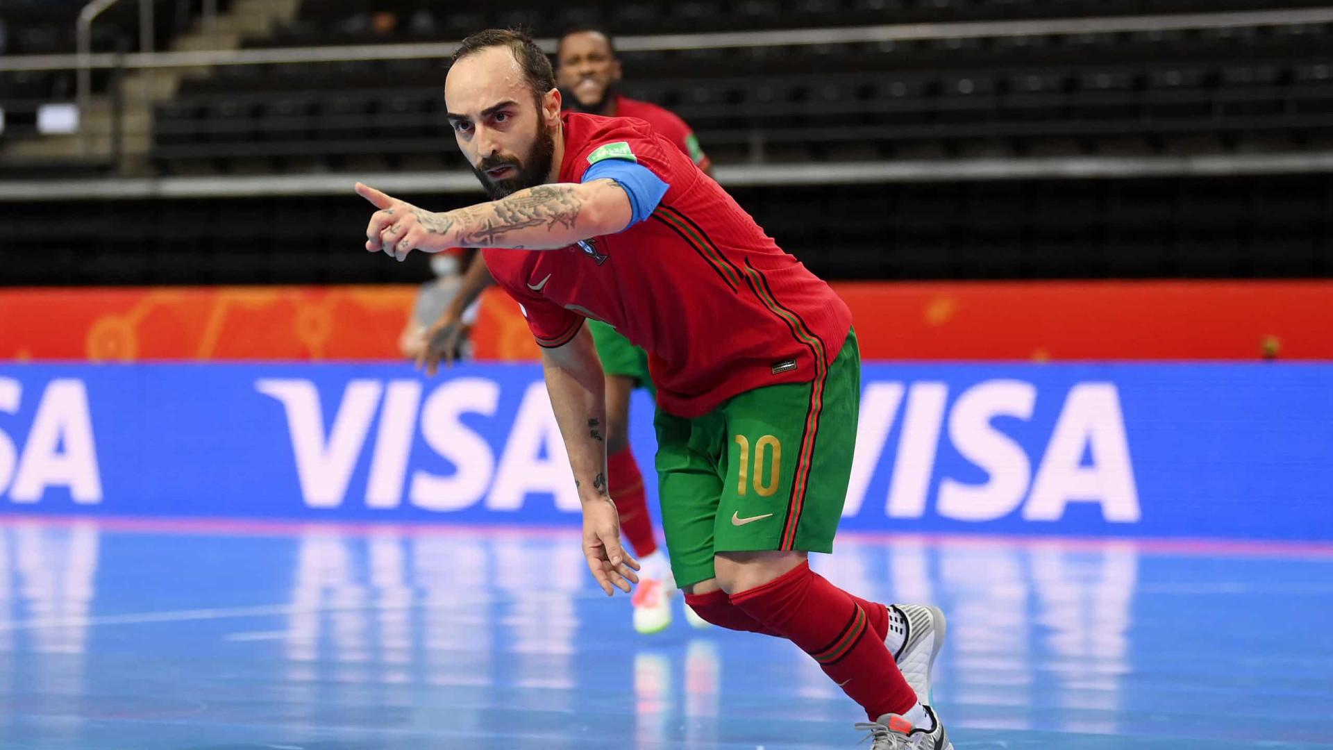 Portugal nos 'quartos' do Mundial de futsal. Venha de lá a Espanha